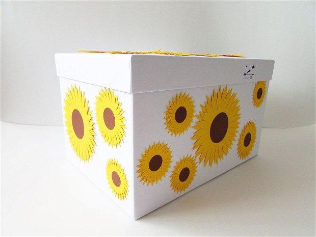 Cutie dar nunta cu floarea soarelui