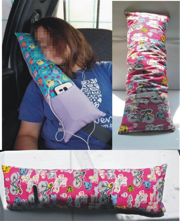 Les bicyclettes - Child's Seat Belt Pillow, Travel Pillow, Neck Pillow -  Perna de centură pentru copii