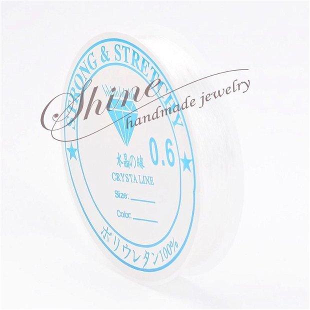 Elastic transparent 0.6mm (10.5m)