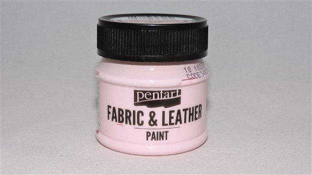 Vopsea pentru textile si piele- roz pal- 50ml