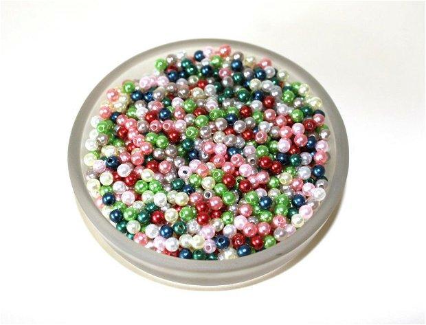 100 x Perle plastic  4 mm