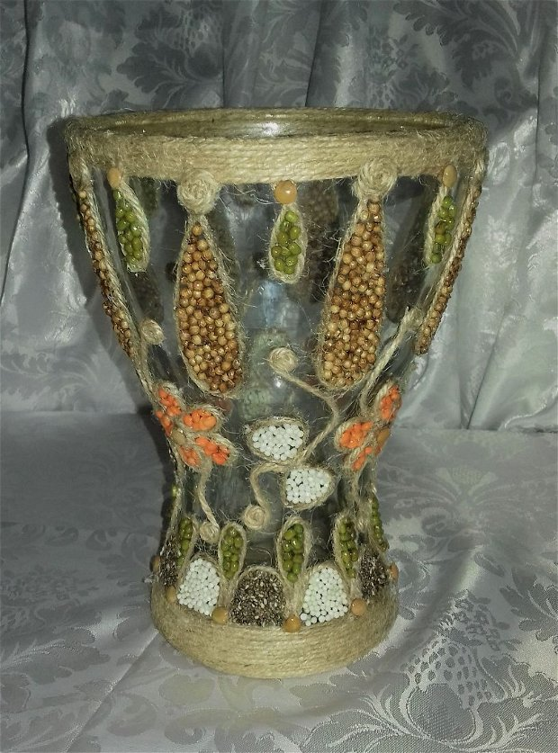 Vaza din sticla lucrata manual