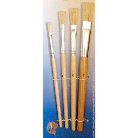 Set 4 pensule sintetice late-marimi 2-4-6-8
