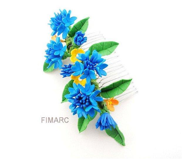 ''Albastrele'' - accesorii par:pieptene pentru coc