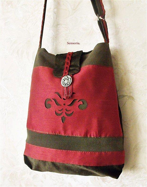 geanta cu decor baroc