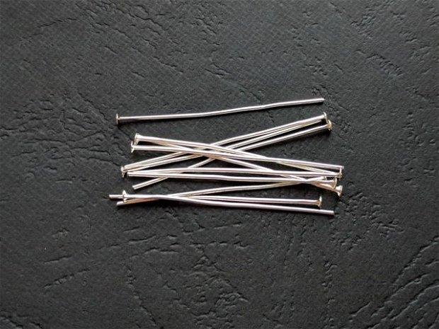 LA20 - (50 buc) ace argintii cu cap 4 cm
