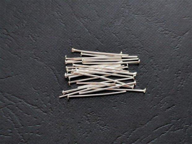 LA14 - (50 buc) ace cu cap argintii - 25 mm