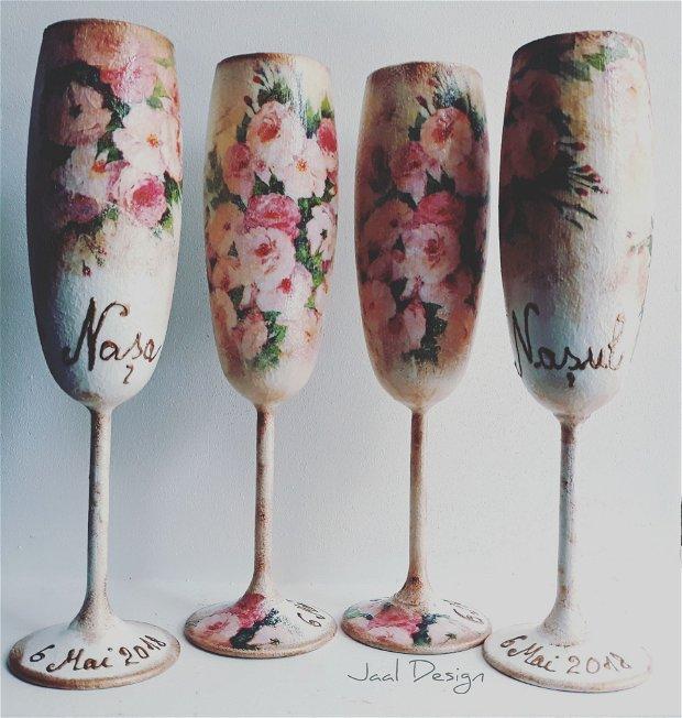 Pahare șampanie miri