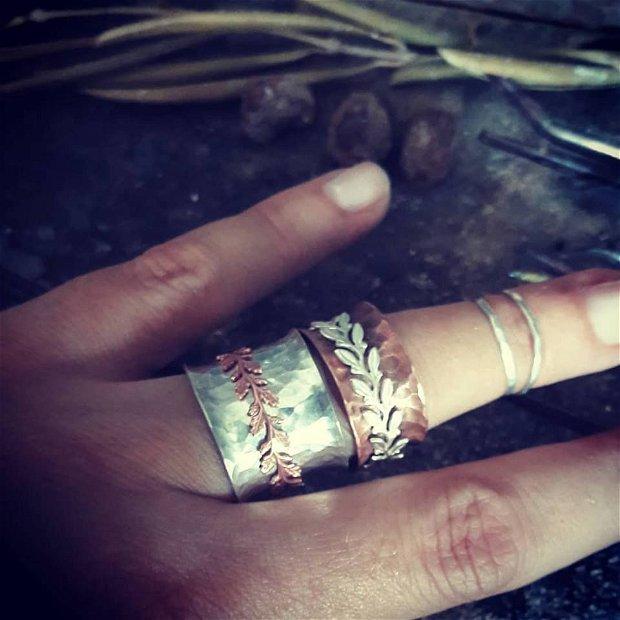Spinner Ring din argint 925 si cupru