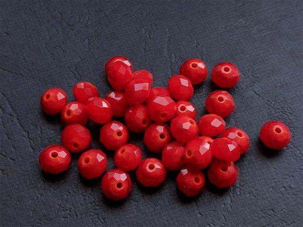 LMS862 - margele sticla rosii