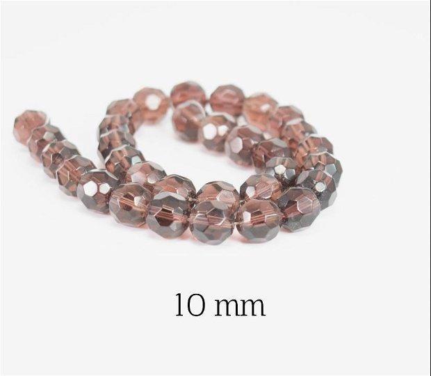 Cristale fatetate, 10 mm, MR18