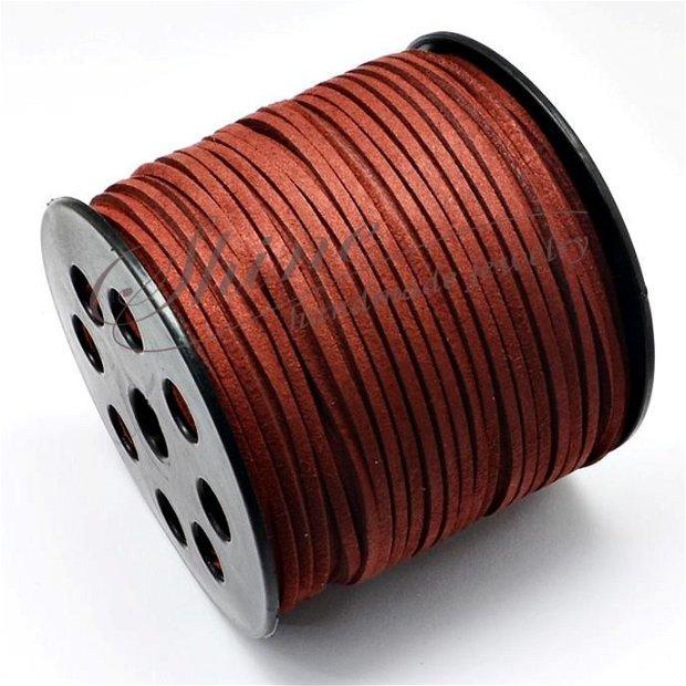 Snur Suede Dark Red, 3.0x1.4mm