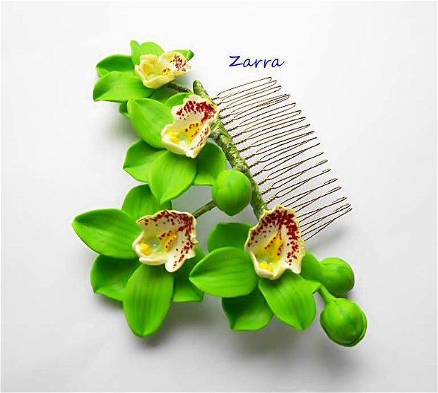 Pieptene cu orhidee Cymbidium