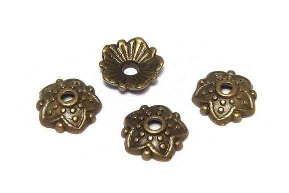 Capacel metalic, bronz, 8x2.5 mm