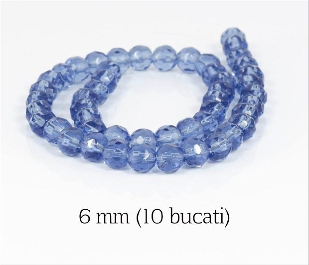 Cristale fatetate (cod S) , 10 buc, 6 mm
