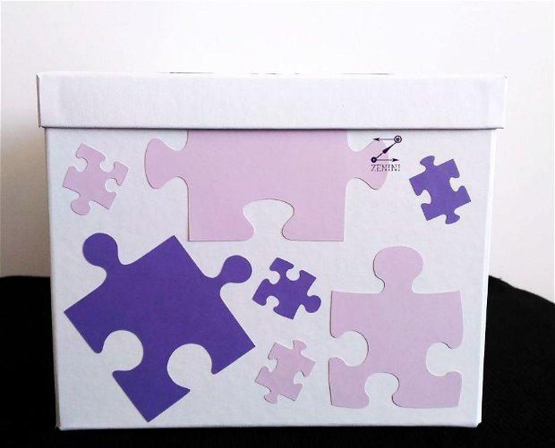 Cutie dar puzzle, cutie dar nunta puzzle, casuta bani nunta, casuta bani botez, cutie dar botez, casuta bani puzzle