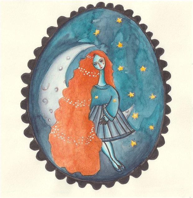Print ilustrație originală Prințesa Luna