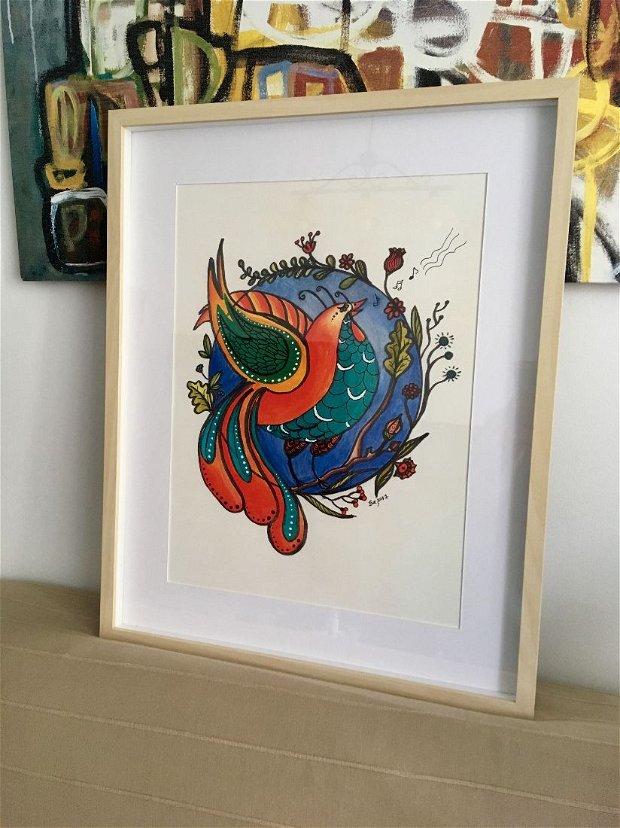 Print ilustrație originală Pasărea Măiastră