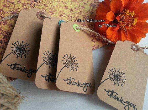 Etichete craft cu mesaj stampilat