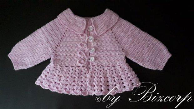 Pardesiu roz pentru fetite