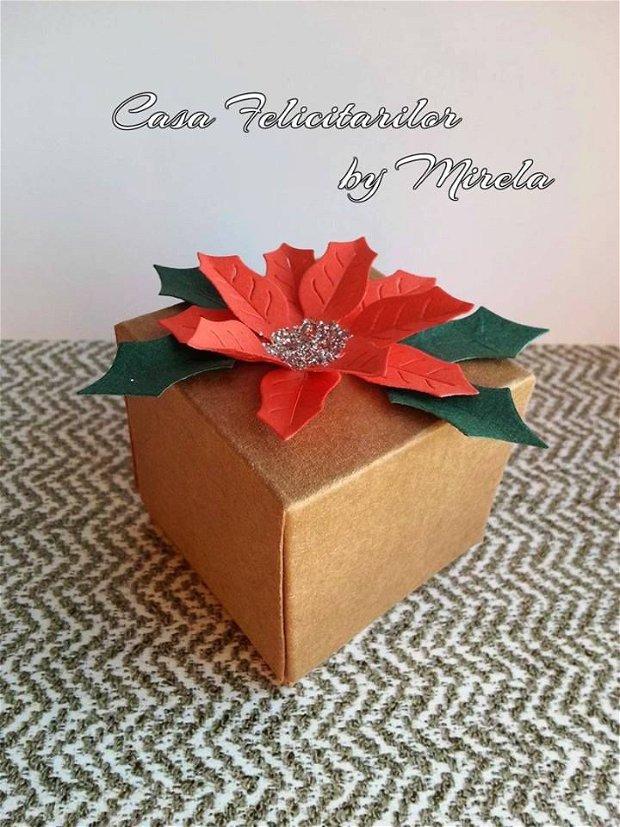 Cutii craft cu Floarea Craciunului