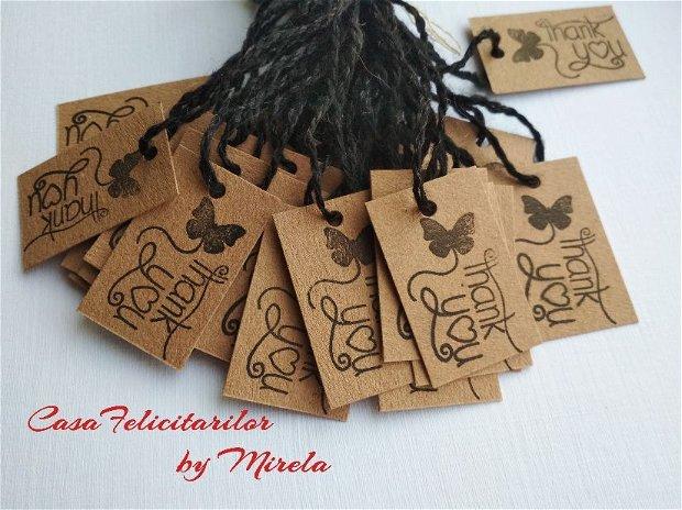 Set  35 etichete craft cu mesaj stampilat