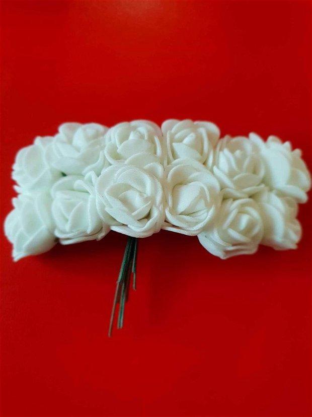 Buchet 12 floricele spuma,albe