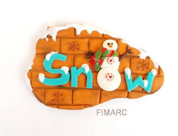 ''Snow'' - decoratiune de iarna:magnet