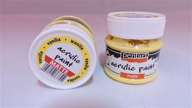Vopsea acrilica mata 50 ml- vanilie