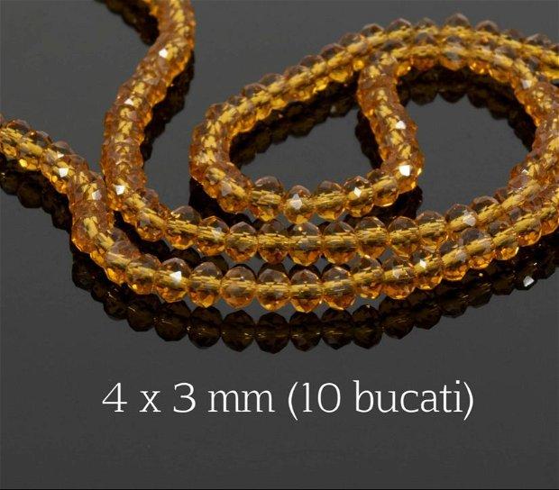 Cristale fatetate, 10 bucati, 4x3 mm, CM04