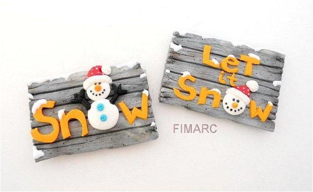 Let it snow - decoratiune de iarna magnet