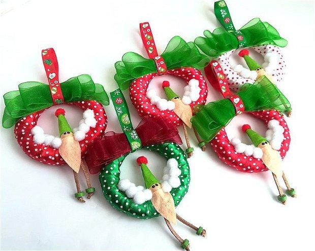 Ornament Craciun*Christmas wreath with Elf*Coronita cu spiridus pe zapada*Ornament de Iarna