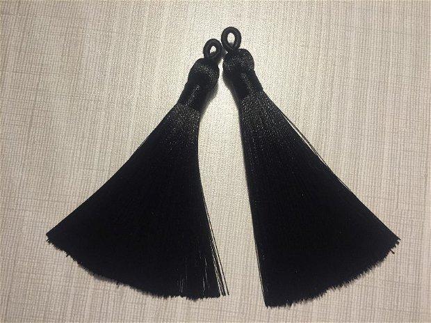Ciucuri (9cm) mătase, negri
