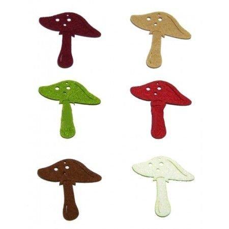 Figurine din fetru- ciuperci dif. culori- 315