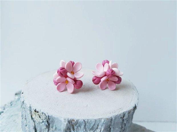 Cercei flori de liliac