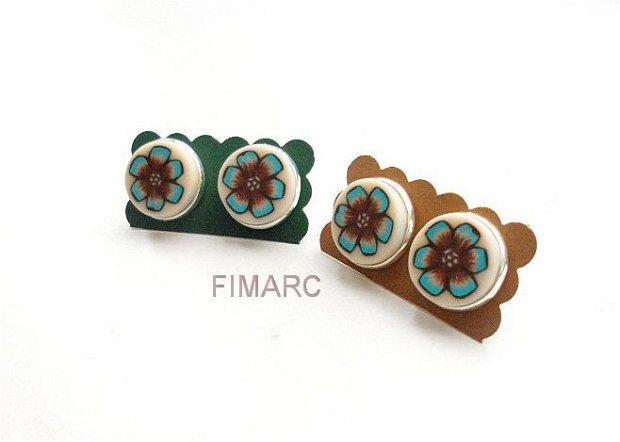 Flori Turcoaz - cercei pe ureche