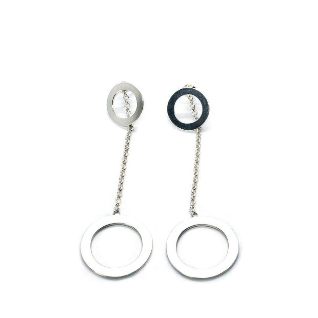 Cercei cercuri din argint