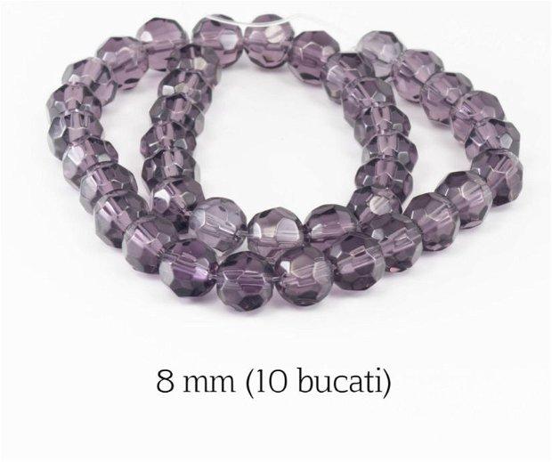 Cristale fatetate, 10 buc, 8 mm, GM02