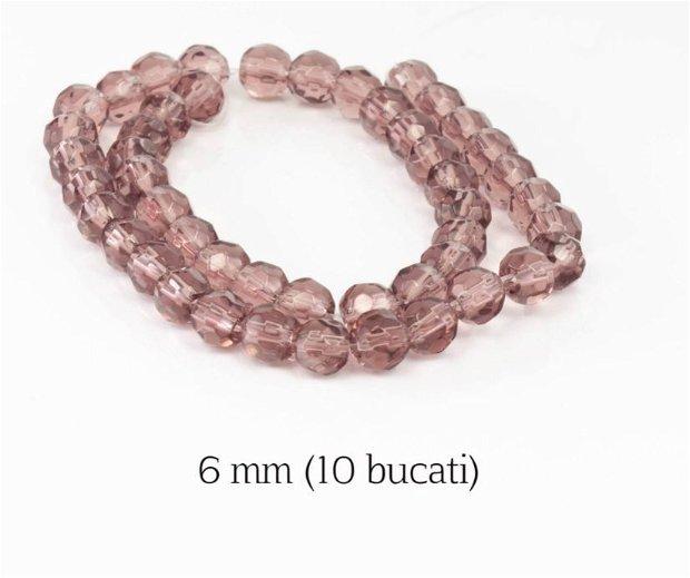 Cristale fatetate, 10 buc, 6 mm, M01