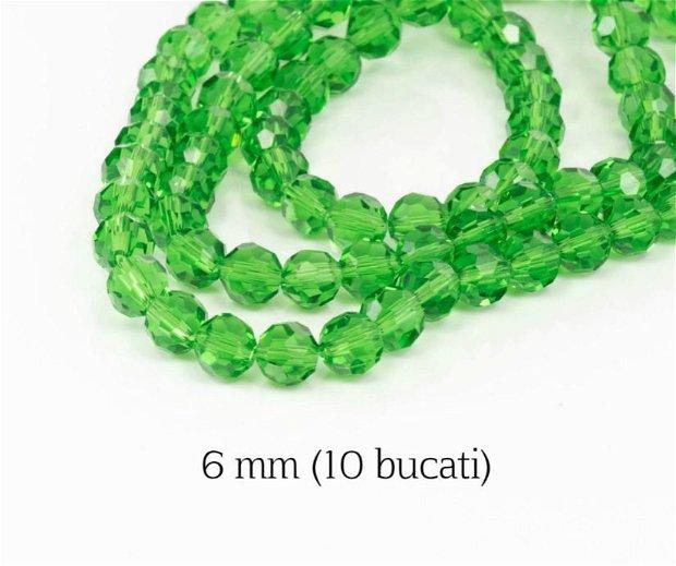 Cristale fatetate, 10 buc, 6 mm, M03