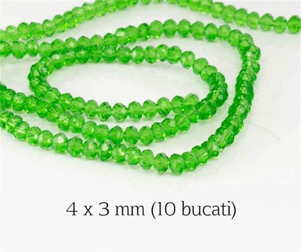 Cristale fatetate, 10 bucati, 4 x 3 mm, M10A