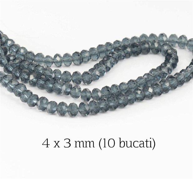 Cristale fatetate, 10 bucati, 4 x 3 mm, M15A