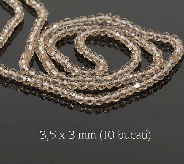 Cristale fatetate, 10 bucati, 3,5 x 3 mm, M19A