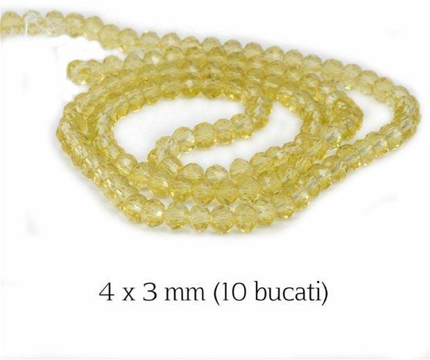Cristale fatetate, 10 bucati, 4 x 3 mm, M17A