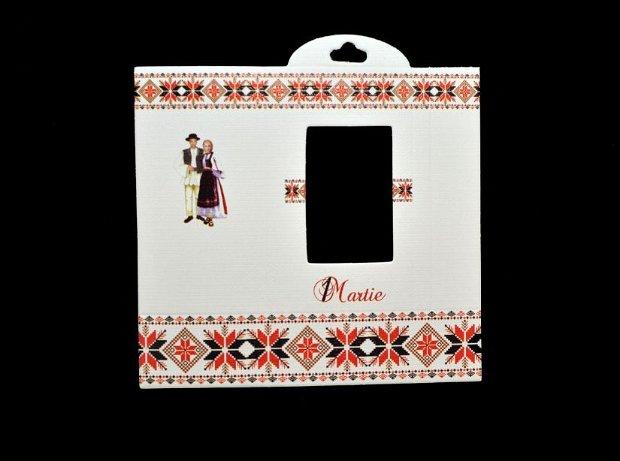 10b Cutie / ambalaj martisor traditional/ Cartonas  martisor