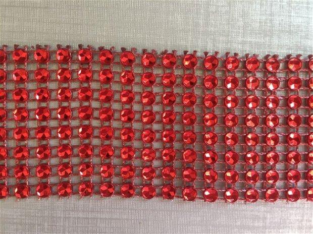3m Banda roșie  (lățime 4cm)