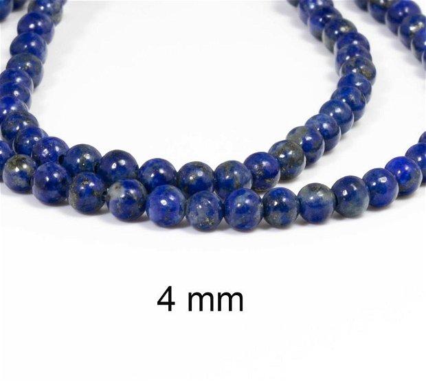 Lapis Lazuli natural, Clasa A, 4 mm