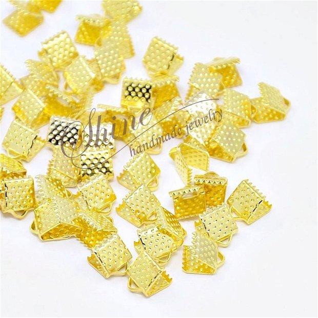 Capat panglica auriu, 8x8x5mm