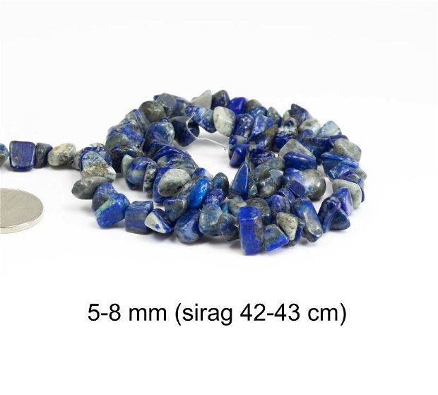 Sirag Lapis Lazuli natural, chipsuri, 5-8 mm, CH10