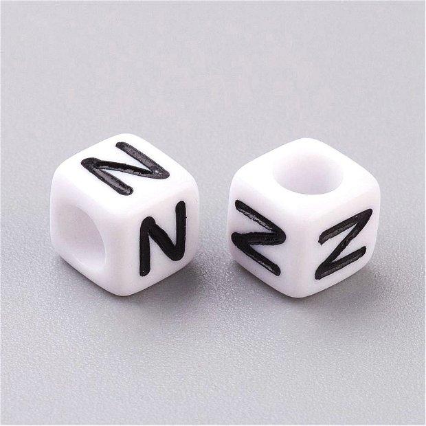 Alfabet, margea litera N cub -67S